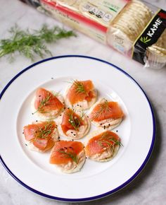 We're drooling over these Asian Salmon & Cream Cheese Canapes from Carolyn's Cooking.