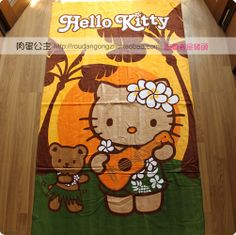 Japanese Lotte upcoming. HELLO KITTY. Terry bath sheets. Hawaiian special section - Taobao