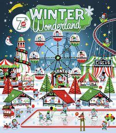 Winter Wonderland by Steve Simpson, via Behance