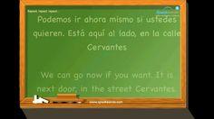 """En la agencia inmobiliaria"". Aprende español. Nivel intermedio. www.speakeando.com"