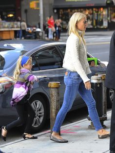 Gwyneth Paltrow and daughter Apple Martin in NYC.