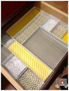 Organize Drawers -- 11 Ways to Organize with Washi Tape :: OrganizingMadeFun.com