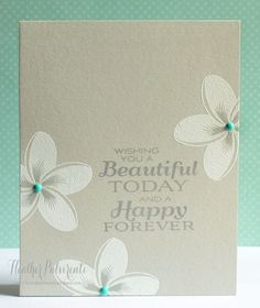 White flowers with embellished centers -