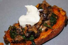 Healthy Sweet PotatoSkins   Have you caught onto the Meatless Monday trend? We are trying to leave meat out of our diets at least once a week, although it doesn't always happen on Monday, that would take too much planning. It's also growing on my meat loving husband, especially after tonight's Healthy Sweet Potato Skins. These work for a []