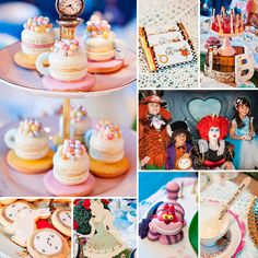 Those amazing macaron teacups by Macarahrah are just the first unbelievable thing in this Vintage Style Alice in Wonderland Birthday Party by (the always talented) Zehra of Couture Event Styling! #AliceInWonderland