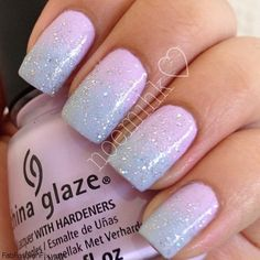Pastel color nails