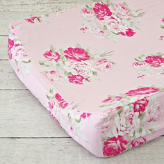 Changing Pad Cover - Shabby Chic Roses