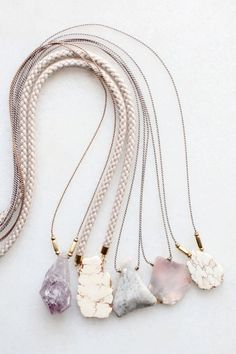 nice Amethyst, magnesite and opal necklaces...