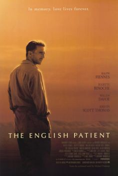 The English Patient (1996) At the close of WWII, a young nurse tends to a badly-burned plane crash victim. His past is shown in flashbacks, revealing an involvement in a fateful love affair. Ralph Fiennes, Juliette Binoche, Willem Dafoe...17a