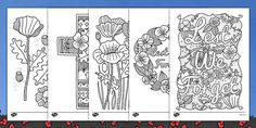 This lovely set of poppy themed Anzac colouring sheets are great for a variety of activities around Anzac Day.