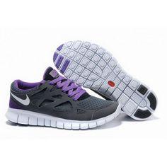 Mens Nike Free Run 2 Shoes Gray Purple