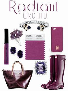 Radiant Orchid in hues of my amethyst birthstone....it must be my lucky year! ^_^*