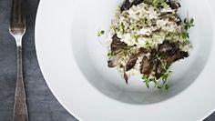 Boghvede-otto med svampe og timian