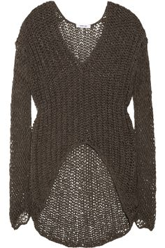 Helmut Lang | Vintage Tape open-knit cotton-blend sweater | NET-A-PORTER.COM