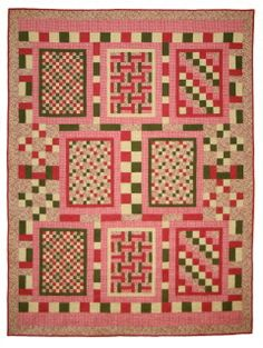 Green Fairy Quilts: Quiltmaker's Blog Tour and Giveaway ~ Judi Madisen!--I love this, quilts within a quilt.