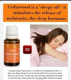Cedarwood = Sleep - For more oil info go to:https://www.facebook.com/Oilcessities