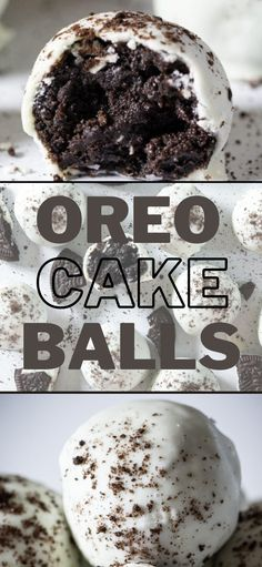 These Oreo Cake Balls are delicious bite-sized treats that are easy to make and no-bake. You'll love their creamy Oreo cake insides and hard candy outsides. #Oreocake #Cakeballs #dessert #easyrecipe # nobakedessert #candy No Bake Oreo Bars, No Bake Oreo Dessert, Oreo Dessert Recipes, Desserts To Make, Dessert Bars, Oreo Bites, No Bake Pumpkin Cheesecake, Oreo Cake Balls, Tummy Yummy