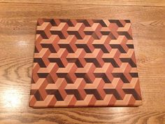 3 Dimensional End Grain Cutting Board by Terryswoodworking on Etsy