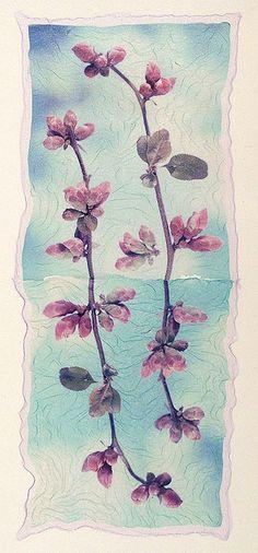 Polaroid Type 669 emulsion lift on watercolor paper, John Fobes
