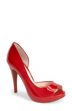 Jessica Simpson 'Cian' Half d'Orsay Peep Toe Pump (Women) available at #Nordstrom