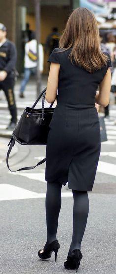 Black Stockings, Beauty Women, Work Wear, Chic, Sexy, Beautiful, Type, Image, Fashion
