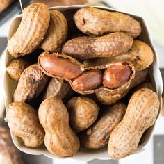 These boiled peanuts are made in the crock pot and flavored with beer, garlic, and onions. A favorite Summer snack.