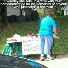 Bless this woman for her kind & generous heart! ♡