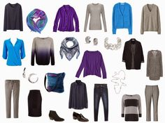 The Vivienne Files: A Four by Four Wardrobe in Bright Blue, Ultra-Violet, Navy and Grey
