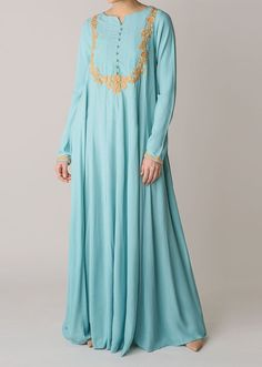 <p>An exclusive Limited Edition Abaya, hand embroidered buttons on the front and back compliment the embroidery featured on both sides. Beautiful flow & exquisite detail, this Abaya takes 7 days to complete.</p>