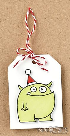 Merry Monster Tag by Marie Forberg
