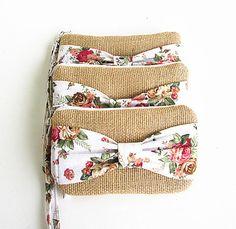Items similar to 5 Burlap wristlets burlap clutches bridal cluth bridesmaid clutch ( set of . on EtsySailor - Waterproof Beach Clutch Bag by Vinge Project Diy Clutch, Handmade Clutch, Handmade Bags, Clutch Bag, Embroidery Purse, Bridesmaid Clutches, Wedding Bag, Boho Bags, Jute Bags