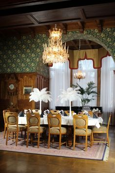 Art Deco Wedding, Table Settings, Events, Table Decorations, House, Furniture, Home Decor, Decoration Home, Home