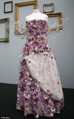 Gold medal winner Charlotte Murrant's entry in the floristry division is displayed at the Chelsea Flower Show in London