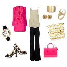 PINKO ruffled Jacket, created by pamela-barrett-williamson.polyvore.com.....love this too!  This girl is good!