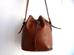 Tan Leather Bucket Bag