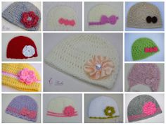 Crochet Hat,Baby Girl Hat,Beanie Hat,Butterfly,Earflap,age 0-24month,2-4 yrs old