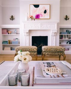 Head on over to galmeetsglam.com to get a peek into our living room  see how I styled a few more pieces from the #bbxgmg collection @baublebar  @liketoknow.it www.liketk.it/1UMpS #liketkit #gmghome #baublebar #homedecor