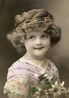 Young girl with jeweled headband - tinted.