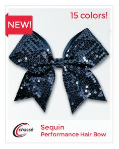 Sequin Performance Hair Bow by Chassé