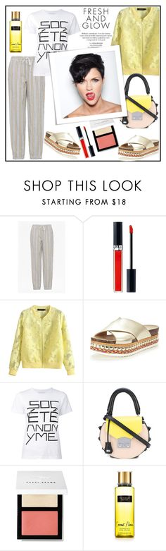 """""""FRESH AND GLOW!!!"""" by kskafida ❤ liked on Polyvore featuring French Connection, Christian Dior, Carvela, Société Anonyme, SALAR, Bobbi Brown Cosmetics and Victoria's Secret"""