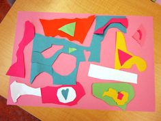 What happens when you combine paper cutting Matisse style with cool grade one self-portraits ?  An opportunity show off some creativity and have lots of fun! I saw this lesson over at Incredibleart…