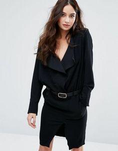 BA&SH | BA&SH Frill Long Sleeve Dress With Belt