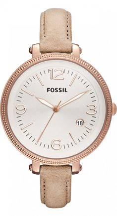 #Fossil #Watch , FOSSIL Heather Three Hand Leather Watch - Sand ES3133
