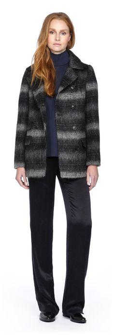 SOIA & KYO - CLOE BLACK MOHAIR WOOL JACKET FOR WOMEN WITH DOUBLE BREAST. WWW.SOIAKYO.COM #wool #womens #coat #soiakyo #jacket #fw14