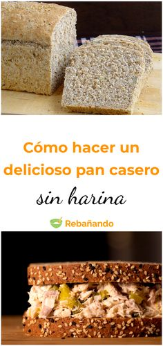Mira esta sencilla receta para hacer un pan sin harina Healthy Rice Recipes, Healthy Recepies, Healthy Cooking, Gluten Free Recipes, Real Food Recipes, Keto Recipes, Pan Bread, Keto Bread, Gluten Free Pizza Base