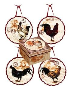 Roosters remain a popular theme for kitchens and dining rooms, so our classic red and white gingham with provencial French flair is a new perspective on a traditional theme. Our Poulet du Monde Mini Plates come with a ribbon for easy display, or choose one of our many mini plate racks.