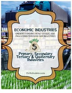 This cooperative learning lesson addresses the four economic industries: Primary, Secondary, Tertiary, & Quaternary Industries. A nation's economy can be divided into various sectors. Understanding these are important in understanding how our nation's economy works.