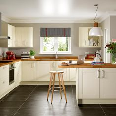 ivory kitchen slate floor oak tops - Google Search