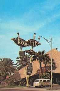 This dramatic example of classic A-frame-meets-Googie architecture, was designed by James Salter, working with the Ralph Haver architecture group. It was torn down in 1997....