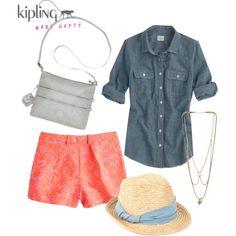 """What to wear with the Kipling Alvar Crossbody Bag"" by kiplingusa on Polyvore"